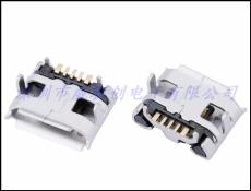 MICRO USB 5P母座 牛角型3A大电流快充尾插