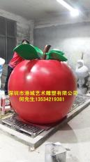 天津仿真水果蔬菜玻璃钢苹果雕塑厂家