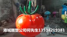 批发北京玻璃钢西红柿雕塑厂家