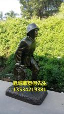 深圳消防大隊消防主題文化玻璃鋼消防員雕塑