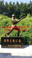 深圳批发手拿消防器材玻璃钢消防员雕塑厂家