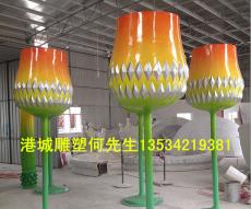 深圳KTV装饰玻璃钢高脚杯雕塑定制公司