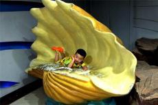 海口玻璃鋼海底生物貝殼海螺雕塑定制
