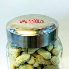 9907食品展示玻璃瓶配套鋼蓋方形螺口瓶子