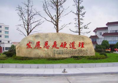 新疆乌鲁木齐做水泥仿真景观石刻字石文化石