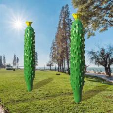 四川生态园蔬菜装饰玻璃钢仿真黄瓜雕塑价格