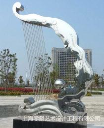 上海电镀不锈钢雕塑镜面透光石头