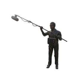 摄像人物雕像玻璃钢雕塑.大型仿铜树脂摆件