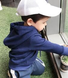 外贸加绒连帽儿童卫衣批发