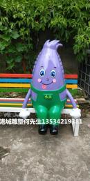 湖北农耕文化玻璃钢卡通玉米休闲椅雕塑价格