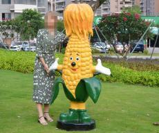 深圳厂家玻璃钢玉米蔬菜雕塑价格行情