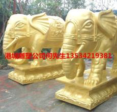 深圳玻璃钢风水招财国宝大象雕塑价格