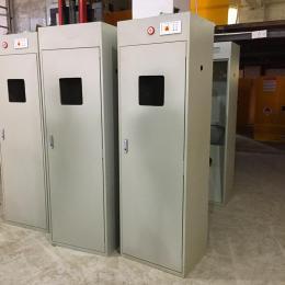 加厚全钢制气瓶柜带排风金属柜