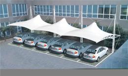车棚遮雨遮阳棚张拉膜景观棚陕西张拉膜公司