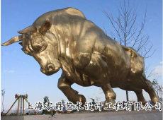 熱銷黃銅拓荒牛雕塑耕牛擺件3米