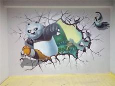 3D壁画墙体彩绘文化墙彩绘