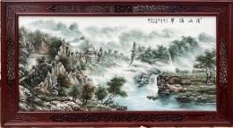 陶瓷装饰画 陶瓷墙壁画 瓷板画像 墙壁瓷板