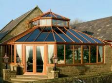 洛阳屋顶露台钢结构玻璃顶休闲阳光房设计