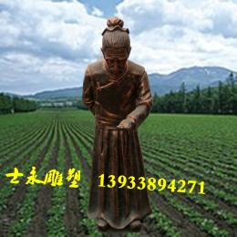 农作人物雕像大型玻璃钢雕塑户外落地摆件