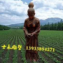 大型农民劳作人物雕像玻璃钢雕塑让树脂摆件