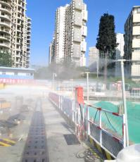 工地围挡围墙喷雾喷淋系统-富通达围挡喷淋