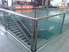 不锈钢玻璃栏杆 不锈钢立柱扶手