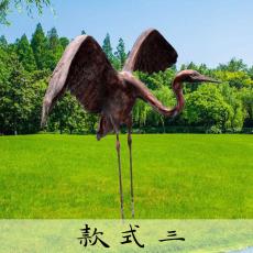 玻璃钢户外仿真仙鹤和丹顶鹤雕塑动物雕塑