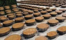 园林仿圆木年轮步道板水泥仿树皮坐凳