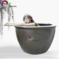 日式极乐汤温泉会所泡澡大缸