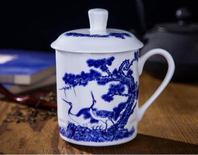 礼品定制水杯 景德镇陶瓷水杯 批发陶瓷杯子