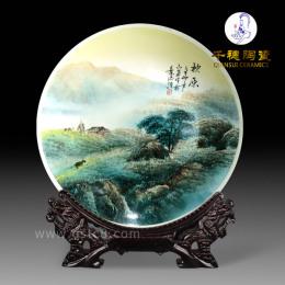 春节礼品瓷盘设计制作厂家春节礼物陶瓷赏盘