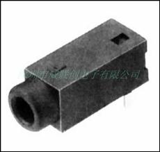 2.5耳機插座PJ-20120/PBT黑膠 90度插板DIP