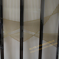 客廳隔斷 折屏花格 不銹鋼屏風 定制生產