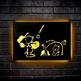 南宁仿古发光字定制生锈灯箱LED发光字装饰