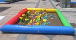 小型儿童游乐设备充气沙池幼儿园专用