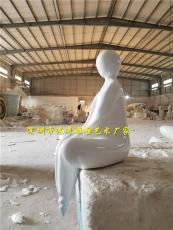 藝術館人體形象觀賞品玻璃鋼抽象人物雕塑
