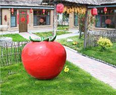 供应蔬菜基地装饰玻璃钢西红柿树脂番茄雕塑