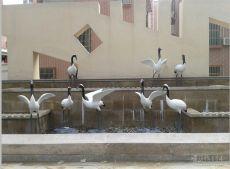 供应花园林景观装饰仿真动物玻璃钢仙鹤雕塑