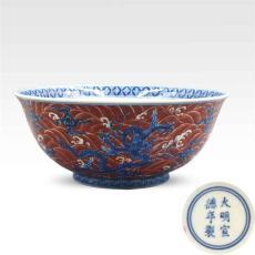 青花矾红彩瓷器的近期交易价格行情