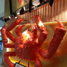 供应深圳海鲜酒店门头仿真海洋动物螃蟹雕塑