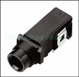 供应PJ-618 高品质6.35咪插座 环保黑胶LCP