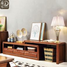 实木电视柜客厅组合视听柜现代中式全实木储