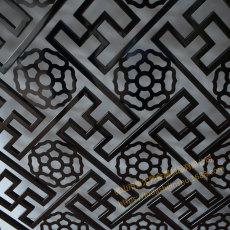黑钛不锈钢隔断 客厅中式屏风 装饰座屏玄光