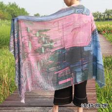 围巾工厂 印花围巾生产加工厂 外贸围巾厂