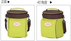 鲜到佳时尚斜跨圆桶形保温便当包加厚饭盒袋