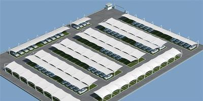 张拉膜舞台空间膜结构福建张拉膜安装公司