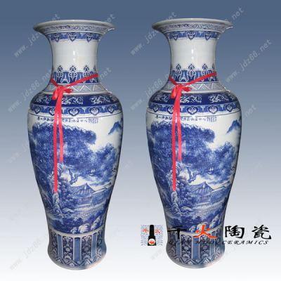 家居陶瓷落地大花瓶摆件景德镇大花瓶摆件