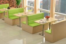 重庆餐厅实木卡座沙发定制厂家