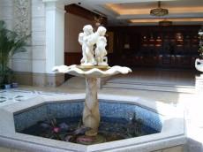 东莞别墅入口玻璃钢喷泉花盆雕塑厂家