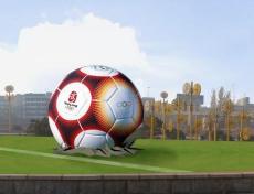 广场公园商场装饰玻璃钢风水圆球转运球雕塑
